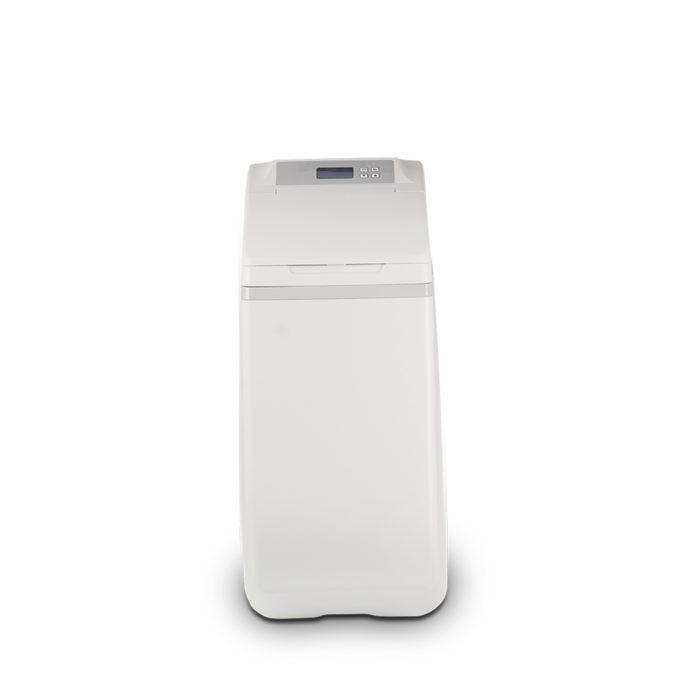 Machine that treats water for dishwashers.