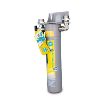 Carbon and polyphosphate water filter.