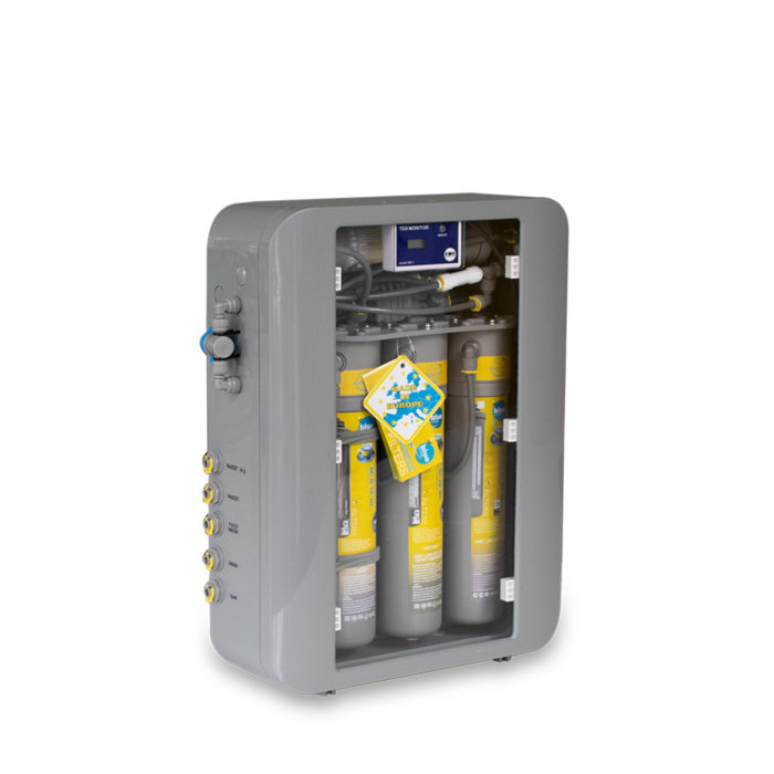 Water filtering system with automatic TDS control.