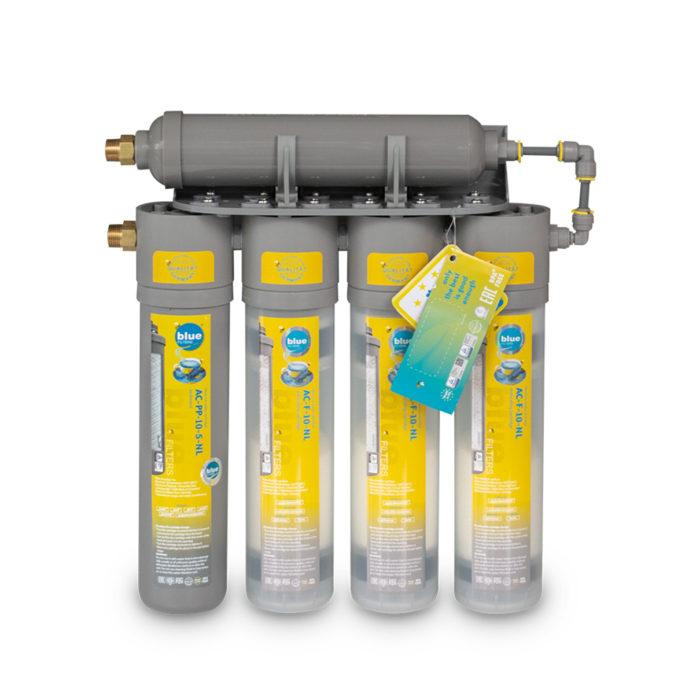 Five heavy-duty sediment water filters.