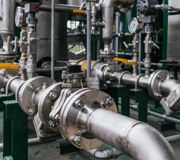 Piping system in a manufacture plant.