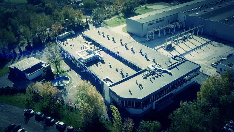 A bird's-eye view on Bluefilters factory.